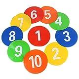 Huairdum Fußball-Marker, 10 Stück Flache Scheiben 9,1 x 9,1 Zoll Trainingsgeräte Schilder Flache...