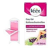 Veet Kaltwachsstreifen mit Easy-Gelwax Technology – Geeignet für normale Haut – Anwendung für...