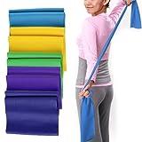 Whobabe Yoga-Stretch-Training mit einfarbiger Farbe, praktisches Yoga-Spannband, Rose,...