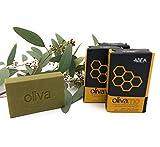 ABEA® | 4er-Set grüne Olivenöl-Seife mit HONIG | 4x 125g (500g) | vegane Naturseife | Spar-Pack...