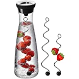WMF Basic Wasserkaraffe Set 3-teilig, Karaffe 1l mit 2 Fruchtspieße verschiedene Größen,...