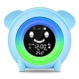 Wecker für Kinder - Lovebay Kinderwecker Wake Up Lichtwecker, Kinder schlafen Trainer mit 7 Farben...