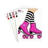 YXUAOQ Card Poker Cute Retro Roller Skates Playing Card Unique for Kids & Adults Card Decks Games...