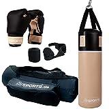 ScSPORTS Boxsack-Set, für Jugendliche und Kinder, Box-Set mit Boxhandschuhen, Boxbandagen und...