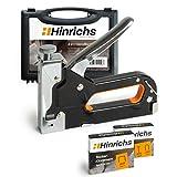 Hinrichs Handtacker mit Klammern im Koffer - Holztacker mit Ngeln - Tackerpistole Handwerker zum...