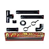 Pelletofen Kit Rohre 80 mm. Rohr schwarz lackierte Stahl beständig 600 CE ° Porzellan Kamin Made...