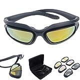 Polarisiert Fahren Reiten Linse Sonnenbrille mit 4 Objektiv für Motorrad Fahrrad Outdoor-Aktivität...