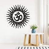 wopiaol Wandaufkleber om Hindu Religion Indien Sanskrit Symbol wandtattoos Hause Schlafzimmer...