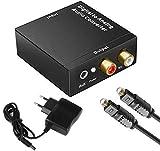 Dac Wandler Konverter Digital Zu Analog Audio USB Converter HiFi Zen Toslink Zu Analog Stereo Mit...
