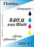 A3 - 100 Blatt Fotopapier Photopapier DIN - A 3 - 240g/qm - glossy glaenzend - sofort trocken -...