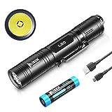 WUBEN L50 Taschenlampe LED 1200 Lumens Super hell Handlampe Micro-USB Aufladbar Taktische...