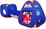 Kinderspielzelt mit Spielhaus Tunnel und Zelt Tasche 3 in 1 Pop Up Spielzelt, Prinzessin Zelt für...