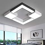 BFMBCHDJ Quadratische Metallbeleuchtung Leuchte Moderne LED-Deckenleuchte fr Wohnzimmer Schlafzimmer...