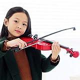 GODNECE Geige Kinder Spielzeug Violine Kinder ab 3 Jahre (Rot)