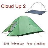 AOGUHN Zelt - Verbessertes Campingzelt Wasserdichtes Outdoor Wanderzelt 20D 210T Nylon Backpacking...