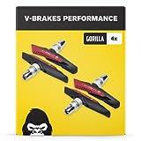V-Brake Bremsbeläge 2 Paar 72mm Asymmetrisch I Für Shimano, Tektro, Avid, Sram, XLC UVM I Hohe...