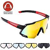 Radbrille CrazyFire Polarisierte Sportbrille Fahrradbrille Groer Bildschirm Sonnenbrille mit...
