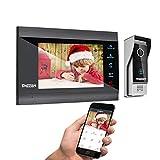TMEZON WLAN Video Türsprechanlage Türklingel Gegensprechanlage System,7 Zoll 1080P IP Monitor mit...