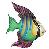 Cabilock Metall Fisch Wanddekoration Tropischer Fisch Figur Wandkunst Wandbild Meerestiere Figuren...