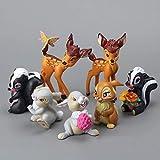 NamekPlanet - Set mit 7 Figuren Bambi Figur Spielzeug  5 bis 9 cm