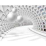 Fototapeten 3D - Kugel Wei 352 x 250 cm Vlies Wand Tapete Wohnzimmer Schlafzimmer Bro Flur...