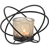 JUNGEN Vintage Kerzenständer Schwarz Kerzenhalter aus Eisen Teelichthalter Metall Deko...