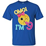 9th Birthday Kiss Emoji T Shirt OMG I M 9 Years Old Girl