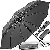 KESSER® Regenschirm Taschenschirm mit Auf-Zu-Automatik - inkl. Schirm-Tasche & Reise-Etui -...