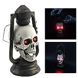 QHJ Halloween Kostüm Party Maske 2018 LED Schädel Laterne Glowing Eyes Creepy Hängelampe...