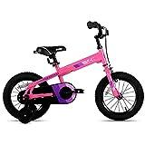 Joystar 12 Zoll Kinderfahrrad mit Laufrädern für Kinder im Alter von 2 3 4 Jahren, Jungen und...