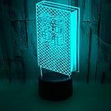 3D Nachtlicht Logisches Denkbuch Form LED Illusionslampe, Office Lampe, Stimmungslampe, Kreatives...
