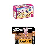 Playmobil Dollhouse 70208 Schlafzimmer und Nähstudio, mit Lichteffekten, ab 4 Jahren + Duracell...