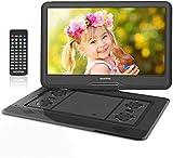 WONNIE 17.5' Tragbarer DVD-Player mit 15.6 Zoll Rotation Bildschirm 1366x768 HD, 5600mAh Akku 6...