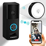 Video Türklingel Mit Kamera, YIROKA Video Doorbell Wifi Funk Gegensprechfunktion Bewegungsmelder...