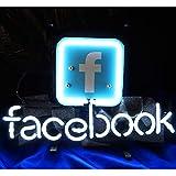 Facebook Neon Sign,Leuchtschild für Zuhause, Bierbar,Restaurant, Billard, Garage, Fenster, Strand...