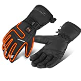 ZH1 Beheizte handschuhe damen, Windproof Heat Snowboard Gloves, for Skiing, Hunting, Fishing,...