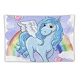 h Pegasus Wandteppich mit Regenbogen-Flügeln, Wandbehang für Zimmer, Dekoration für Wohnzimmer,...