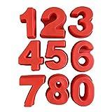 LIA-LIA Backform Zahl Zahlen Kuchenform Groß 24 cm Hoch XXL Silikon 0-9 Backformset Silikonform 0 1...