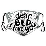 Fashion 3D Face_mask_Protect Printed Gesichts-Mund-SchutzFeline The World Sleep Day Concept Dear Bed...