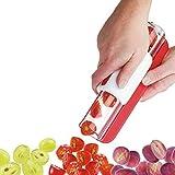 Tomatenschneider Traubenschneider Obstschneider Gemüse Salatschneider Kirschschneider Rot 1 Stück