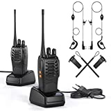 Walkie Talkie 2 x Funkgerät Set, wiederaufladbares VOX Radio PMR 446 MHz 1500 mAh 6 km Reichweite ,...