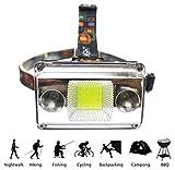 FGBFDG Stirnlampe Led Outdoor Camping Scheinwerfer USB + Aufladen Angeln Scheinwerfer Taschenlampe...