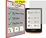 EnWi I 2X Panzerfolie klar Passgenau für Pocketbook Touch HD 3-9H Panzerglasfolie...