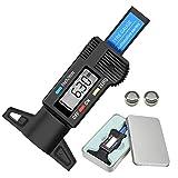 Audew Profiltiefenmesser Reifenprofilmesser Profilmesser Digital Tiefenmesser 0-25.4mm LCD-Display