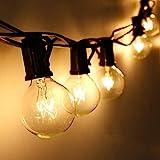 Lichterkette Außen Qomolo Lichterkette Glühbirnen Aussen G40 28er Birnen Garten Beleuchtung für...