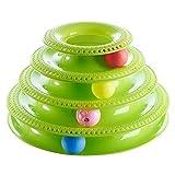FYDYB Interaktives Spielzeug fr Katzen, Ballscheibe, Spielzeug, dreistckig, geistiger Spielturm,...