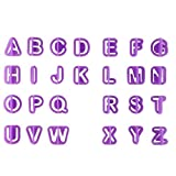 LjzlSxMF 40 Stck Kuchen Brief Cutters Fondant Alphabet Icing Ausschnitt Dekorieren Set...