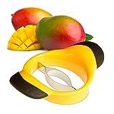 Relaxdays Mangoschneider, Mango teilen & entkernen, rutschfester Griff, Edelstahl-Klinge, Mango...