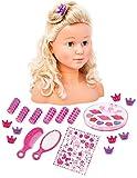 Bayer Design 9000501 Frisierkopf Schminkkopf Super Model mit Kosmetik, 27 cm, Blonde Lange Haare