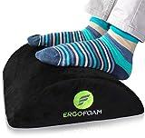 ErgoFoam Fußstütze Schreibtisch | Ergonomische Premium Samt Fußbank | Fußhocker | Bequemste...